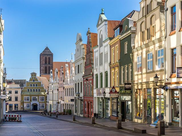 Krämerstraße in Wismar © A. Rudolph