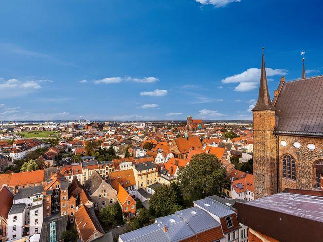 Aussicht von der Kirche St. Georgen © Wismar, A. Rudolph