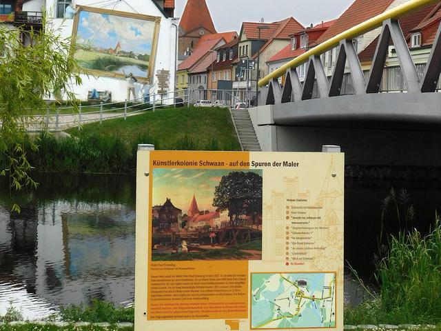Der Malerweg in Schwaan, Foto: Kunstmuseum Schwaan