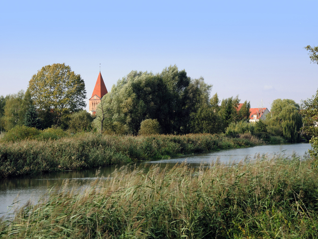 Kirchturmblick in Schwaan, , Foto: Kunstmuseum Schwaan
