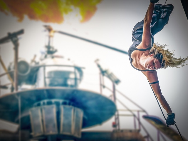 Stuntshow im Vulkan; Foto: Filmpark Babelsberg/Ronny Budweth