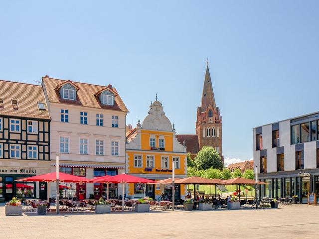 Marktplatz, Foto: Torsten Stapel, Lizenz: Stadt Eberswalde
